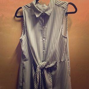 Sleeveless long tunic top